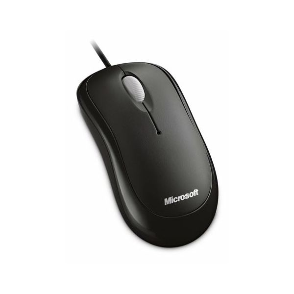 Basic Optical Mouse for Business PS2/USB Black  4YH-00007