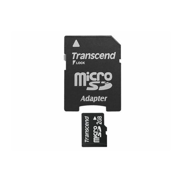 Memorijska kartica Transcend SD MICRO 2GB + SD adapter  TS2GUSD
