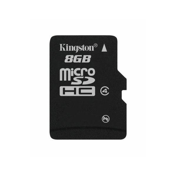 Memorijska kartica  Kingston SD MICRO 8GB HC Class 4 + SD ad  SDC4/8GB