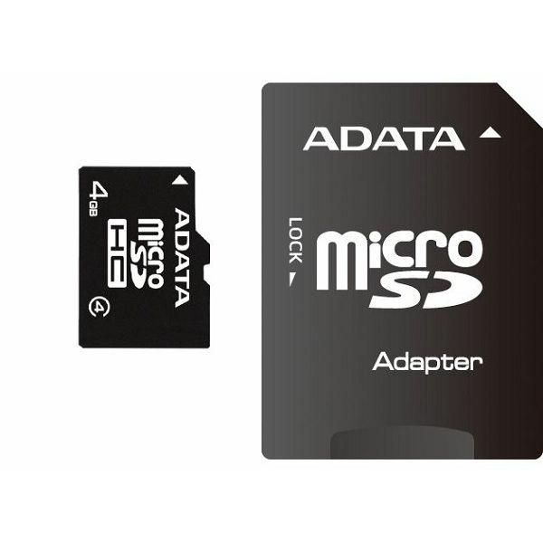 Memorijska kartica Adata SD MICRO 4GB HC Class4 + 1ad  AUSDH4GCL4-RA1