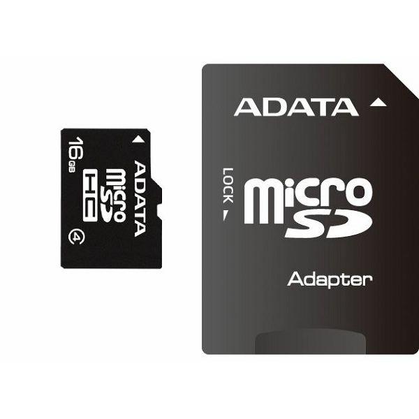 Memorijska kartica Adata SD MICRO 16GB HC Class4 + 1ad  AUSDH16GCL4-RA1
