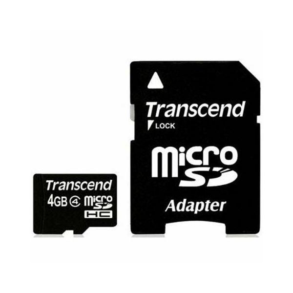 Memorijska kartica Transcend SD MICRO 4GB HC Class 4 + SD ad  TS4GUSDHC4