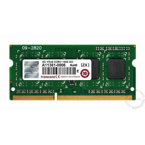 Memorija za prijenosna računala Transcend DDR3 4GB 1600MHz  JM1600KSH-4G
