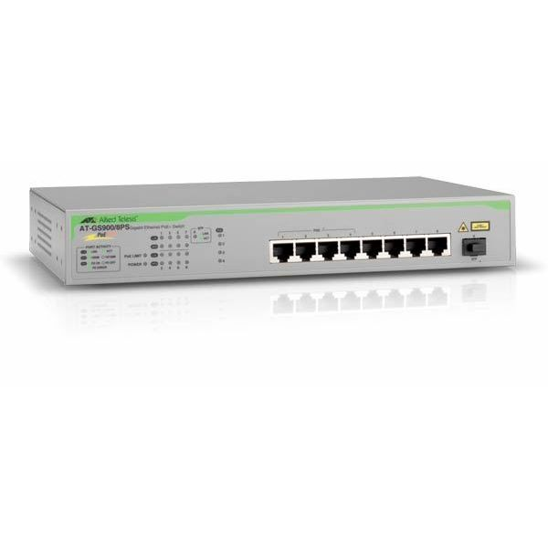 Allied Telesis switch neupravljivi, AT-GS900/8PS-50  AT-GS900/8PS-50