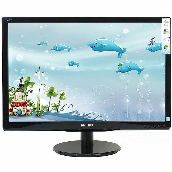PHILIPS Monitor LED V-Line 193V5LSB2 (18.5, TN, 16.9, 1366x768, 5ms, 10M:1, 200 cd/m2, VGA, VESA) Black, 2y
