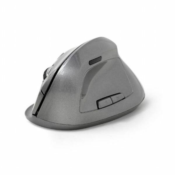 Gembird Ergonomic 6-button wireless optical mouse, spacegrey