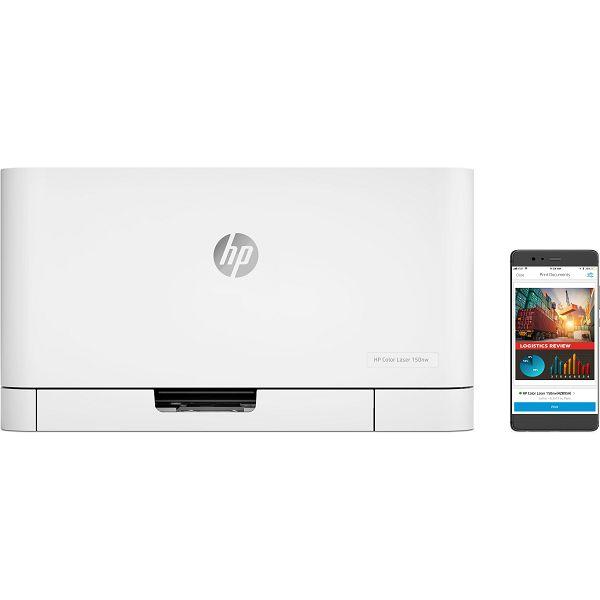 HP Color Laser 150nw Printer, 4ZB95A