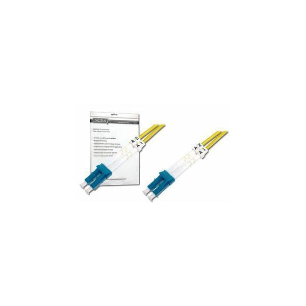 Digitus LC-LC SM Duplex Fiber Optic Patch Cord, 1m