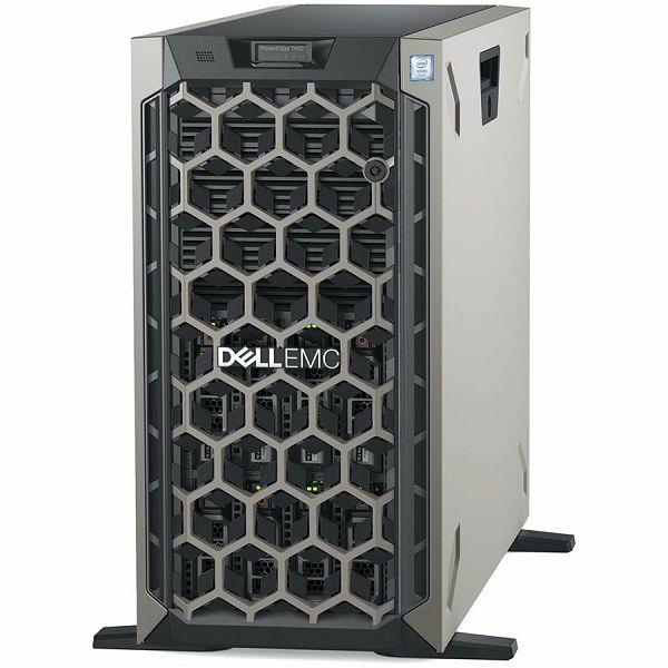 DELL EMC PowerEdge T440 8x 3.5in, Intel Xeon Silver 4210 2.2G, 10C/20T, 9.6GT/s, 13.75M Cache, Turbo, HT (85W), 16GB RDIMM 2666MT/s, 600GB 10K RPM SAS Hot Plug, PERC H730P RAID, iDRAC9,Enterprise, RPS