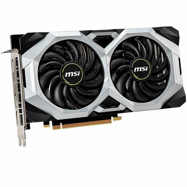 MSI Video Card NVidia GeForce RTX 2060 SUPER VENTUS OC GDDR6 8GB/256bit, 1665MHz/14000MHz, PCI-E 3.0 x16, 3xDP, HDMI, TORX 2X Cooler(Double Slot) Backplate, Retail