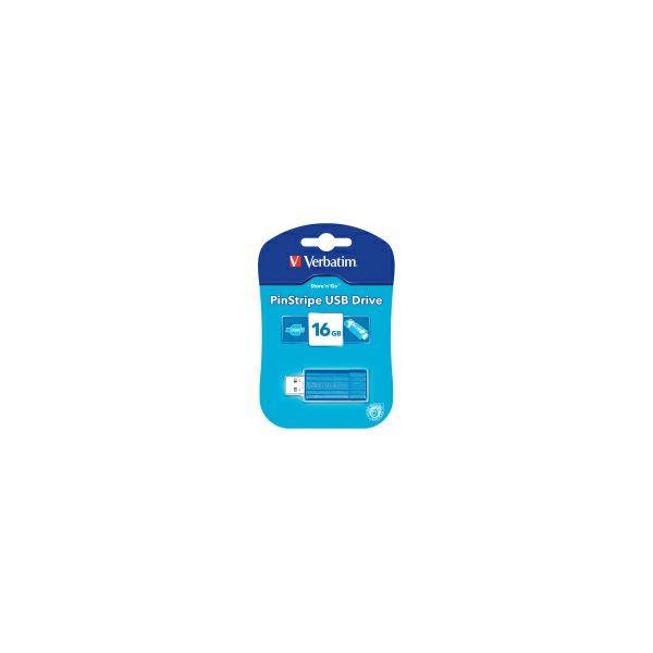 Verbatim USB2.0 PinStripe 16GB, caribbean blue