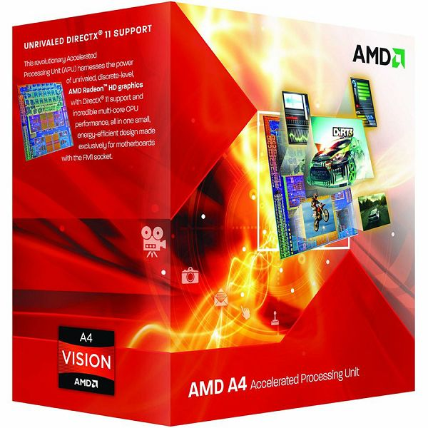 AMD CPU Richland A4-Series X2 4020 (3.4GHz,1MB,65W,FM2) box, Radeon TM HD 7480D