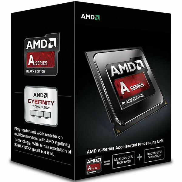 AMD CPU Kaveri A8-Series X4 7650K (3.3GHz,4MB,95W,FM2+, with quiet cooler) box, Black Edition, Radeon TM R7 Series