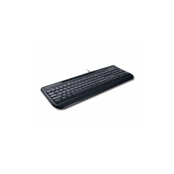 Keyboard MICROSOFT Wired Keyboard 600 USB 2.0, Waterproof, Multimedia Function, Black, Retail, 1pk