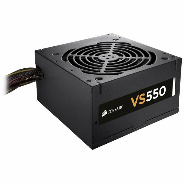 Corsair VS series VS350, 350W, 230V AC, ATX, EPS 12V, PS/2, 120mm fan, up to 85% efficiency, EU version