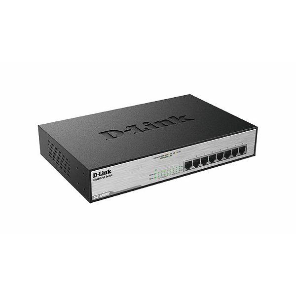 8-Port 10/100/1000Mbps Desktop Switch Gigabit PoE+, DGS-1008MP