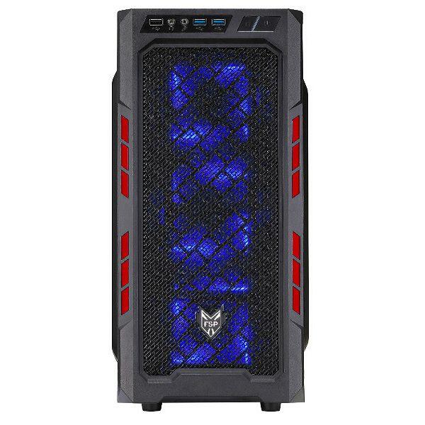 Fortron CMT210,Game kućište, crveno, USB2,USB3,ATX