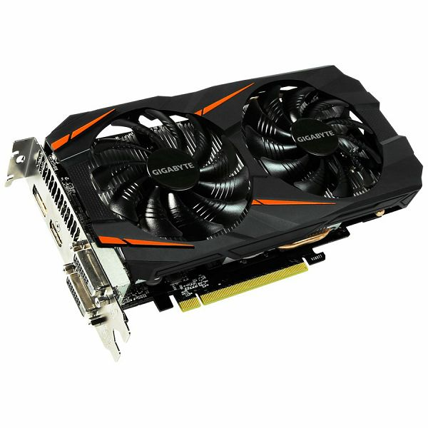 GIGABYTE Video Card GeForce GTX 1060 GDDR5 6GB/192bit, 1556MHz/8008MHz, PCI-E 3.0 x16, HDMI, 2xDVI-D, DP, WINDFORCE 2X Cooler RGB (Double Slot), Backplate, Retail