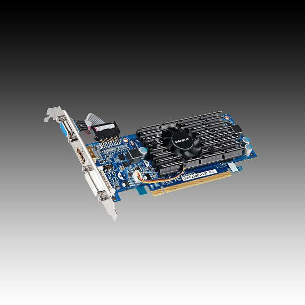 Video Card GIGABYTE GeForce 210 GDDR3 1GB/64bit, 590MHz/1200MHz, PCI-E 2.0 x16,HDMI,DVI,VGA, VGA Cooler, Retail