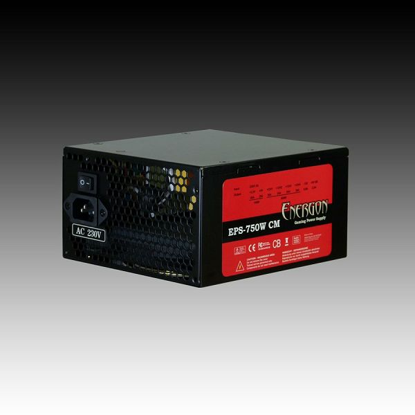 Power Supply INTER-TECH Energon EPS AC 230V, 50/60Hz, DC 3.3/5/±12V, 750W, Retail, Active PFC, Cable Management, Automatic Fan Control, 1x135, Efficiency 80%