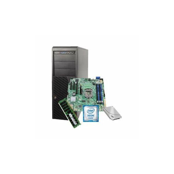 Server Intel, Midi Tower, 1xXeon E3-1230V5, 1x 16GB RAM, 1x S3510 120Gb SSD, 1xAXXRMM4LITE2, based on P4304XXSFCN + DBS1200SPL, PSU 365W, Black
