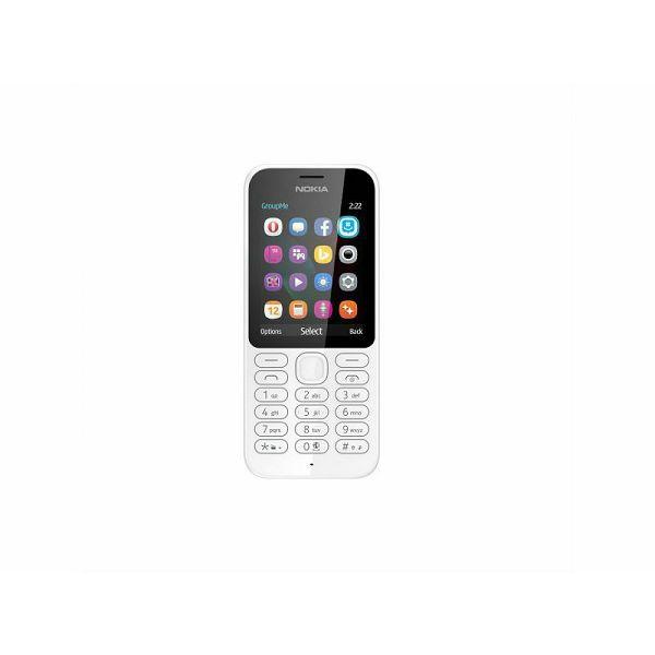 Mobitel Nokia 222 SS, bijeli  6438158748040