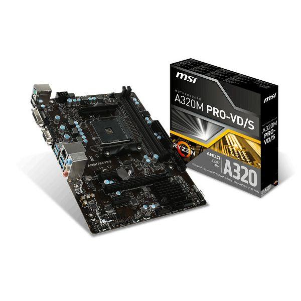 MSI A320M Pro-VD/S, AM4, DDR4, U3,mATX