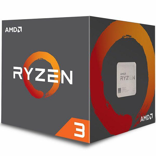 AMD CPU Desktop Ryzen 3 4C/4T 1200 (3.1/3.4GHz Boost,10MB,65W,AM4) box, with Wraith Stealth cooler
