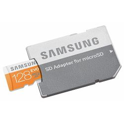 Memorijska kartica Samsung SD micro 128GB EVO Adapter up to
