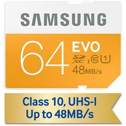 Memorijska kartica Samsung SD 64GB EVO up to 48MB/S