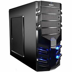 GIGABYTE Case Midi ATX Sumo Alpha, ABS+Steel mesh, Fan, USB 3.0, HD Audio, w/o PSU, Black