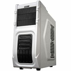 GIGABYTE Case Midi ATX Luxo M10, Plastic+Steel, Fan, USB 3.0, HD Audio, w/o PSU, White