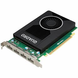 NVIDIA Video Card Quadro M2000 GDDR5 4GB/128bit, PCI-E 3.0 x16, 4xDP, Cooler, Single Slot (Cable included)