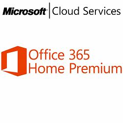 Microsoft Office 365 Home Premium 32-bit/x64 English Subscription 1 License Eurozone Medialess 1 Year