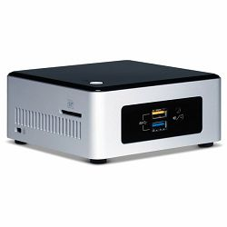 "Intel NUC kit, Intel Pentium N3700 (2M Cache, up to 2.4 GHz), 2.5"" HDD/SSD Support, uCFF, 1x DDR3L 1333/1600, 1.35V SODIMM, 8Gb, VGA Intel HD Graphics, VGA (HDB15); HDMI 1.4b,  GbE, Intel Wireless-AC"