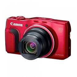 Canon SX710 HS, 20,3 MP, 30x zoom, WiFi, HD, crven