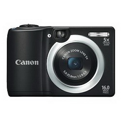 Canon Power Shot A1400, 16MP,  5x, HDvideo, crni