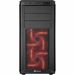 Corsair Graphite Series 230T Black with Red LED, Solid Side Panel