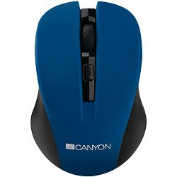 CANYON Mouse CNE-CMSW1(Wireless, Optical 800/1000/1200 dpi, 4 btn, USB, power saving button), Blue