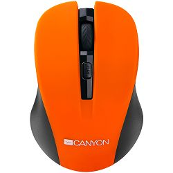 CANYON Mouse CNE-CMSW1(Wireless, Optical 800/1000/1200 dpi, 4 btn, USB, power saving button), Orange