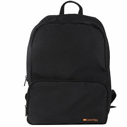 CANYON CNE-CNP15S1B Practical backpack for walk, sport and every day. Color black. Main compartment with small zipper pocket on the front for your essential accessoriesMade of durable materials