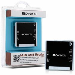 CANYON CNR-CARD05N Card Reader (CF/MS/MS PRO/MMC/SD/xD-Picture/MS PRO-HG Duo), USB 2.0, Black
