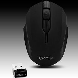 Input Devices - Mouse CANYON CNR-FMSOW01 (,Wireless 2.4GHz, Optical 1600dpi,3 btn), Varnish Black
