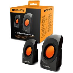 Multimedia - Speaker CANYON CNR-SP20JB (Stereo, 4W, 130Hz-16kHz, Black)