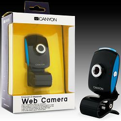 Web Camera CANYON CNR-WCAM413G1 (1.3Mpixel, CMOS, USB 2.0) Black/Blue