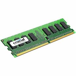 Crucial RAM 2GB DDR2 800MHz (PC2-6400) CL6 Unbuffered ECC UDIMM 240pin (1Gb)