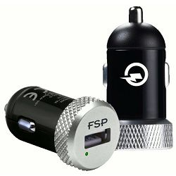 Fortron Car Charger QC2.0, 5V2.4A  DC 12-24V