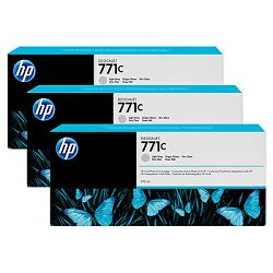 HP 771 3-pack 775-ml Light Gray Ink Cartridges