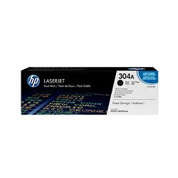 HP 304A 2-pack Black Original LaserJet Toner Cartr