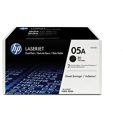 HP 05A 2-pack Black Original LaserJet Toner Cartri